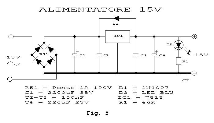 Schema preamplificatore microfonico dinamico